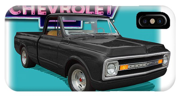 Black 1969 Chevy Pu 1969  Phone Case by Dan Knowler