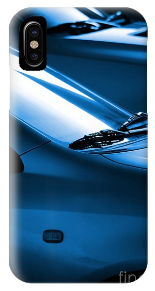 Auto Show iPhone Case - Black And Blue Cars by Carlos Caetano