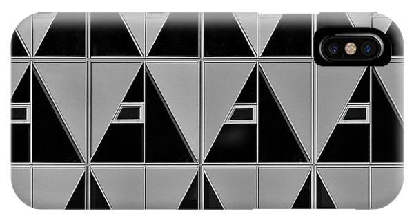 Triangles iPhone Case - Black And Grey Triangles by Theo Luycx