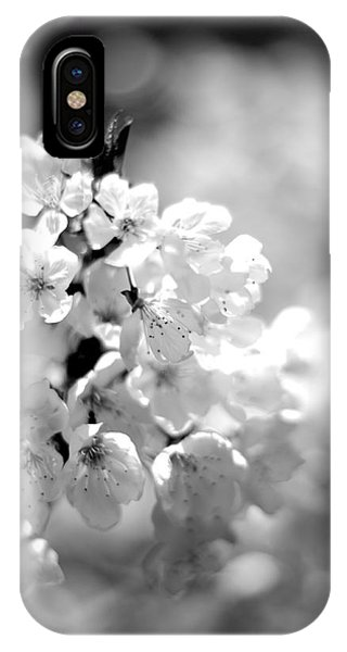 Black And White Blossoms IPhone Case