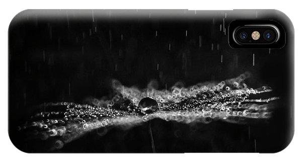 Seeds iPhone Case - Black And White Dandelion by Ivelina Blagoeva