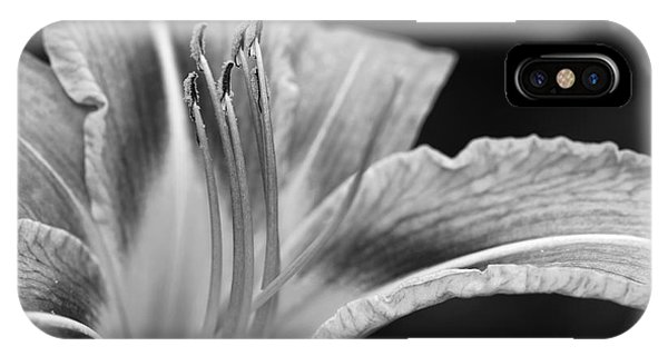 Black And White Daylily Flower IPhone Case