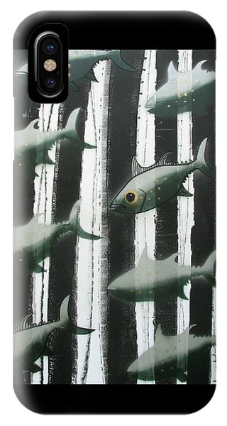 Black And White Fish IPhone Case