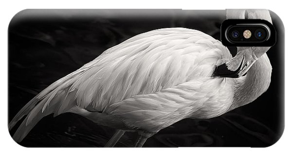 Black And White Flamingo IPhone Case