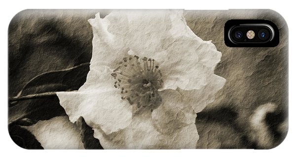 Black And White Flower With Texture IPhone Case