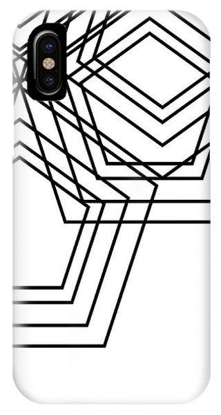 Geo iPhone Case - Black And White Geo by South Social Studio