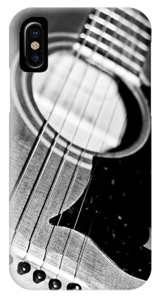 Black And White Harmony Guitar IPhone Case