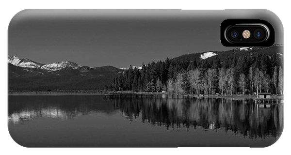 Black And White Lake Tahoe Reflection IPhone Case