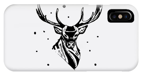 T Shirts iPhone Case - Black And White Monochrome Emblem by Kbibibi