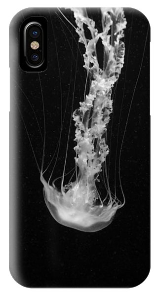 Black And White Nettle Jelly Fish IPhone Case