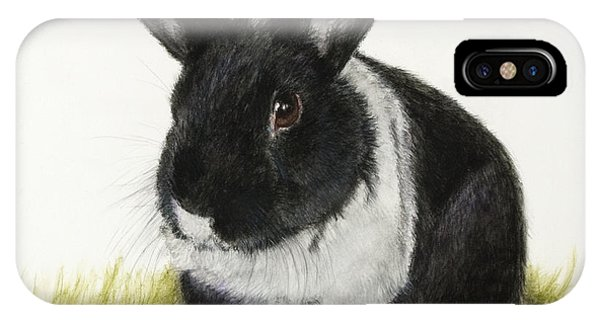 Black And White Pet Rabbit IPhone Case