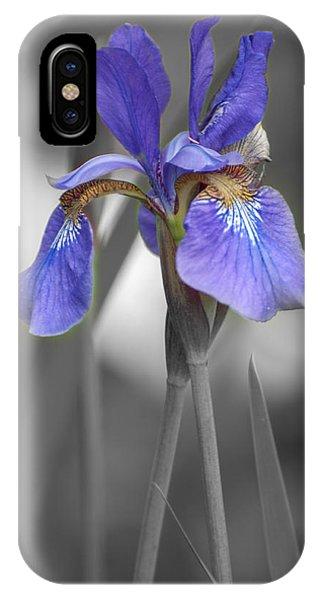 Black And White Purple Iris IPhone Case
