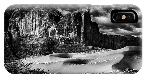 Black And White Sands At Monument Valley IPhone Case