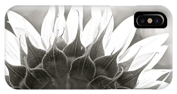 Black And White Sunflower IPhone Case