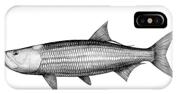 Black And White Tarpon IPhone Case