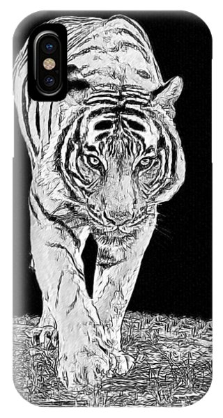 Black-and-white Tiger IPhone Case