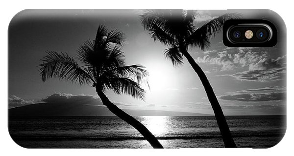 IPhone Case featuring the photograph Black And White Tropical by Pierre Leclerc Photography
