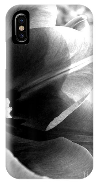 Black And White Tulip Phone Case by Elizabeth Fredette