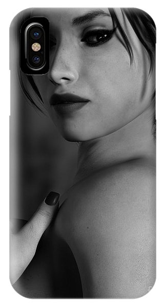 Black And White Woman Portrait Glamour IPhone Case