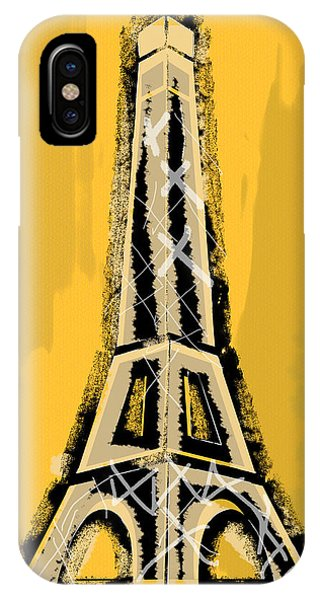 Black And Yellow Eiffel Tower Paris IPhone Case
