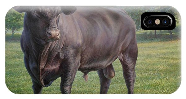 Black Angus Bull 2 IPhone Case
