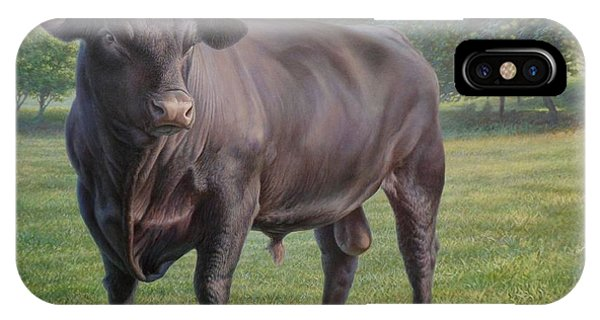 Black Angus Bull 2 IPhone Case