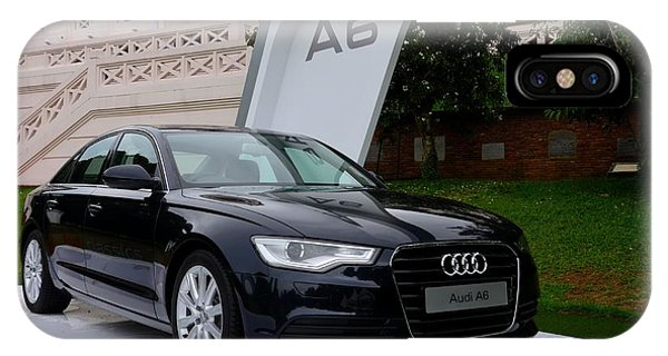 Black Audi A6 Classic Saloon Car IPhone Case