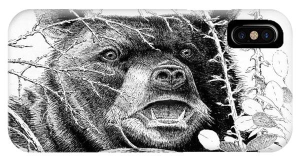Black Bear Boar IPhone Case