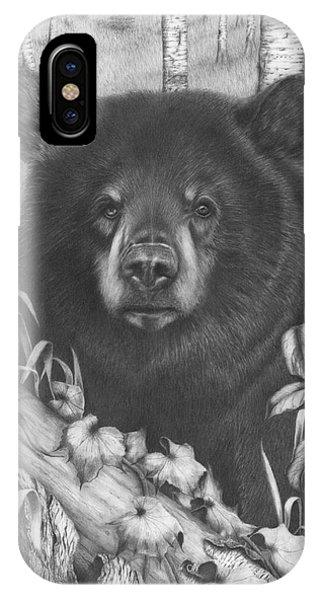Black Bear On Newsome Creek IPhone Case