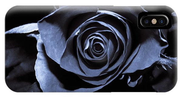 Black Blue Rose IPhone Case