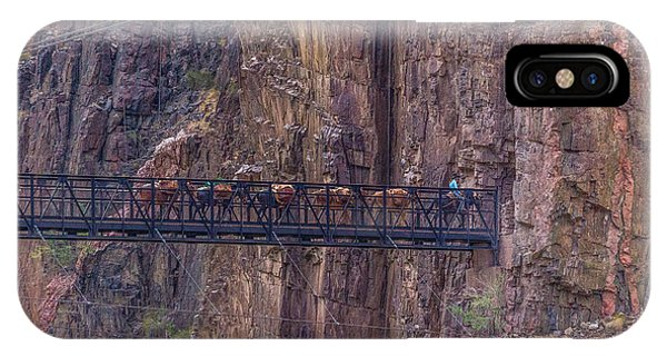 Black Bridge In The Grand Canyon IPhone Case