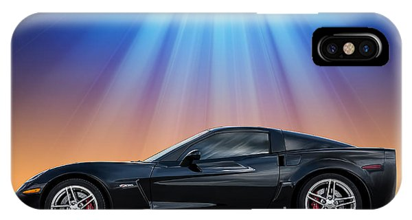 Chevrolet iPhone Case - Black C6 by Douglas Pittman