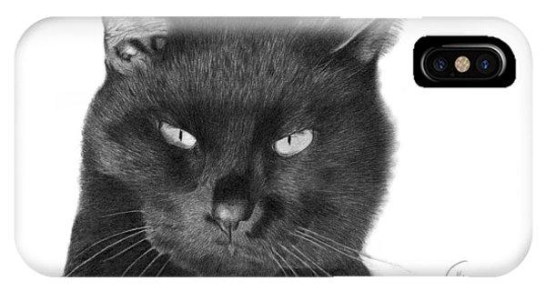 Black Cat - 008 IPhone Case