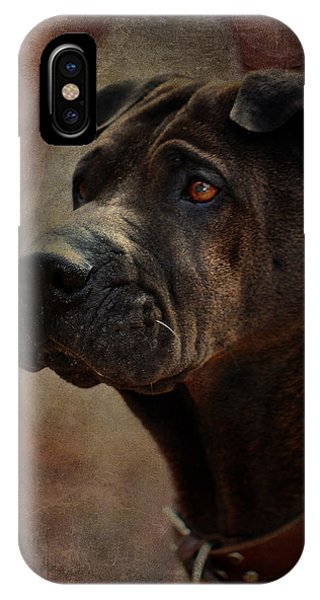 Black Chinese Shar-pei IPhone Case