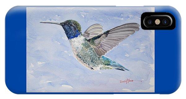 Da194 Black Chinned Hummingbird By Daniel Adams IPhone Case