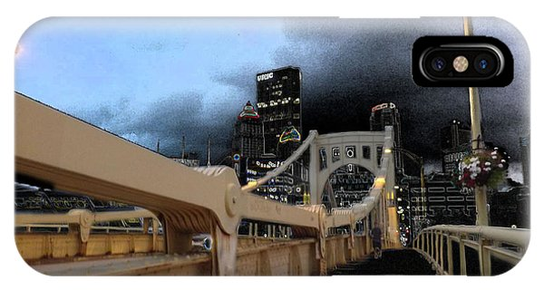 Black Cloud Over The City IPhone Case