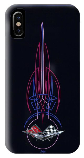 Black Corvette IPhone Case
