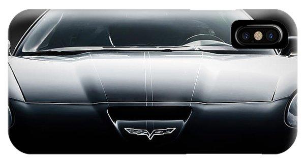 Mancave iPhone Case - Black Grand Sport Corvette by Douglas Pittman