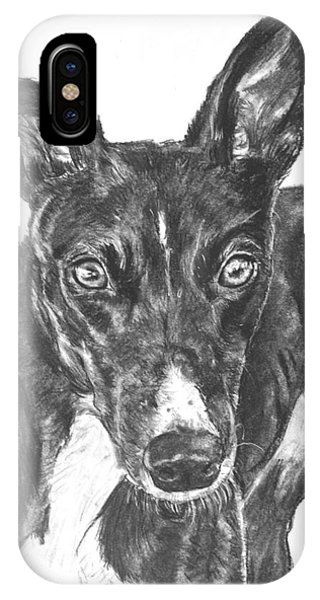 Black Greyhound Sketch IPhone Case