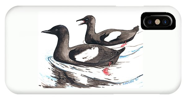 Black Guillemot IPhone Case