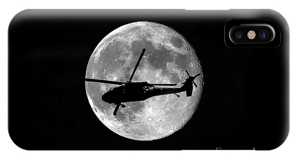 Helicopter iPhone Case - Black Hawk Moon by Al Powell Photography USA