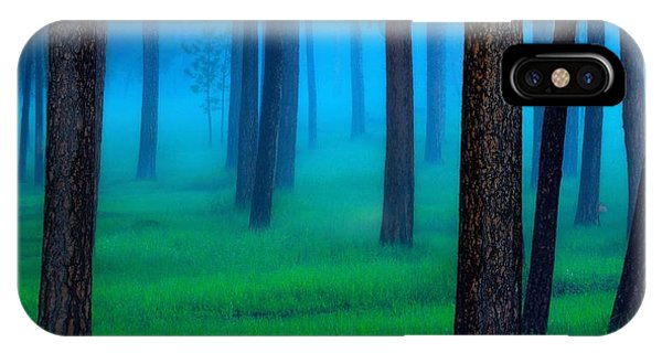 Night iPhone Case - The Black Hills Forest by Kadek Susanto