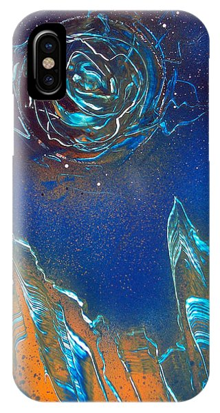 IPhone Case featuring the painting Black Hole by Jason Girard