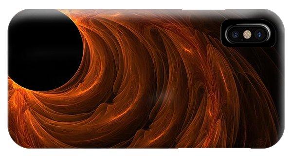 Fractal Geometry iPhone X Case - Black Hole by Lourry Legarde