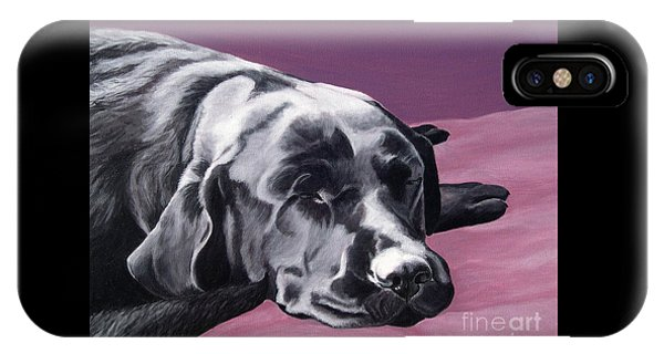 Black Labrador Beauty Sleep IPhone Case