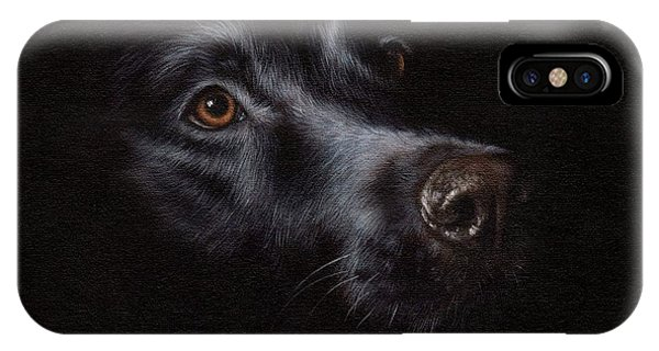 Black Labrador Painting IPhone Case
