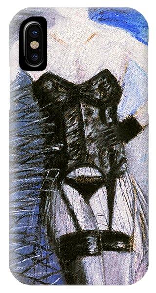 Black Lace Corset Art Print IPhone Case