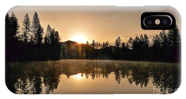Black Lace Sunrise IPhone Case