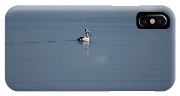 Black Line Pelican  Calm Water IPhone Case