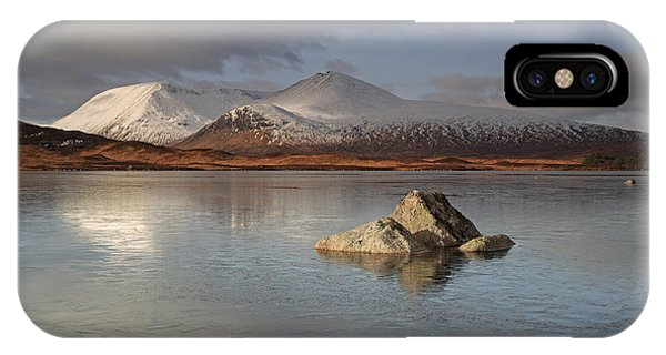 Black Mount And Lochan Na H-achlaise IPhone Case